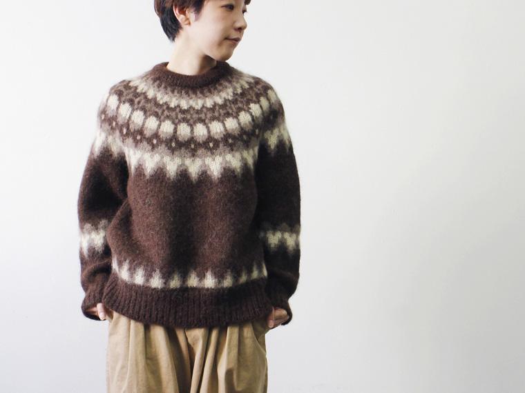 モヘアノルディックセーター