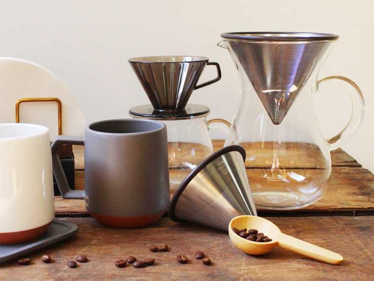 心地よい幸せを淹れるコーヒーウェアたち。