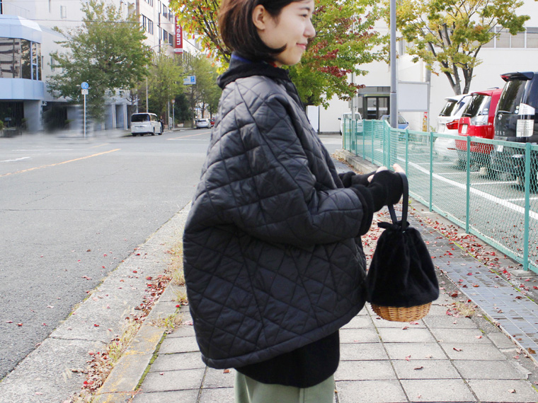 女ごころくすぐる 今どきシルエットなキルティングジャケット