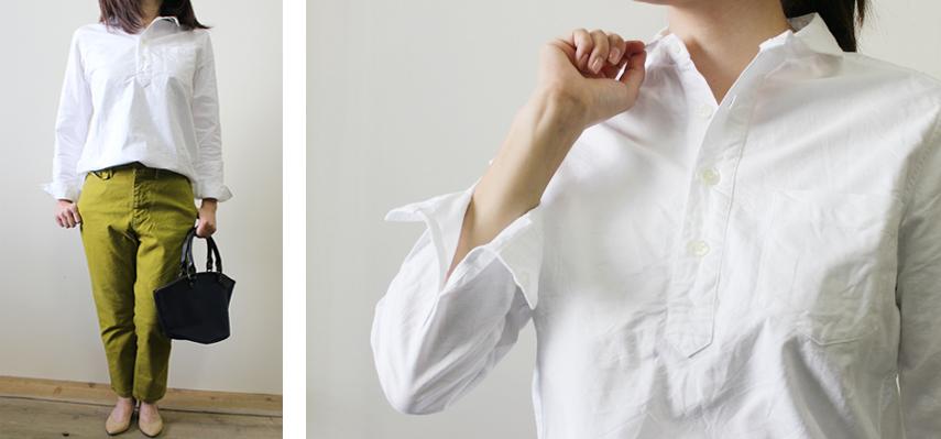 1枚は持っておきたい白シャツ