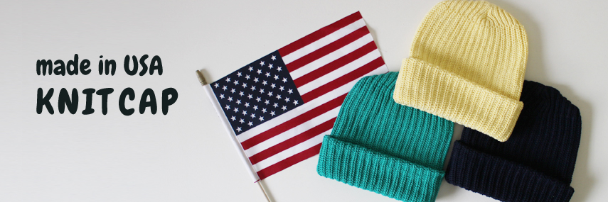 made in USA オリジナルニットキャップ