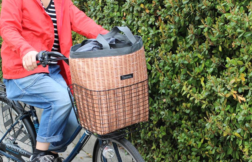 自転車の前カゴにピッタリのサイズ