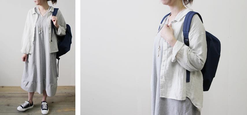 オリジナルブラウスは着回しバツグン!ボタンを外して羽織りとしても使えます。