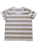 LAITERIE ( レイトリー ) ふわふわ天竺 半袖ボーダー Tシャツ