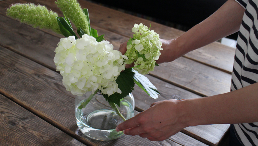 お花に触れることで気分もリラックス。素敵な時間が過ごせそうですね。
