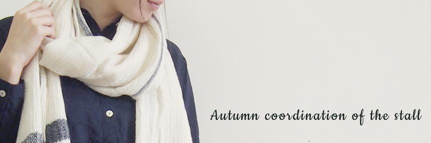 ストールでふんわり膨らむ秋コーデ