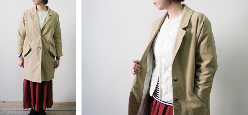 秋のお気に入りコートもインナーダウンで冬まで着回し